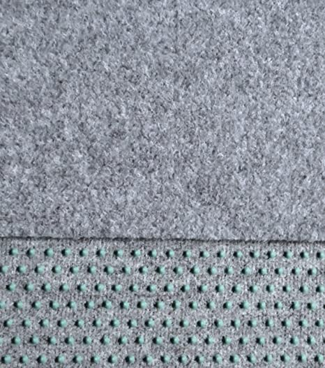 6/€//m/² mit Noppen anthrazit // schwarz 400 cm breite Fertigrasen Balkon 250 x 400 cm Kunstrasen
