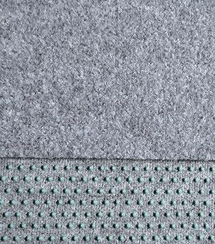 Kunstrasen Rasenteppich Mit Noppen Angenehm Weich Farbe Hell Grau