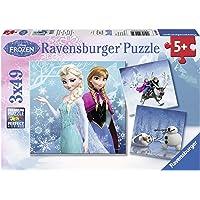 Ravensburger 92642 Frozen Kış Macerası 3'lü 49 Parça Yapboz