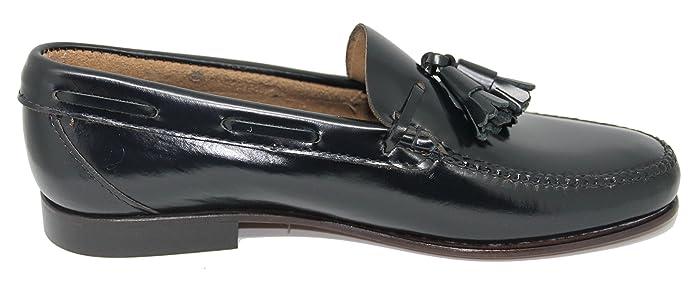 John Coleman Zapato Mocasín Estilo Castellano con Borlas EN Cuero Color  Azul Marino  Amazon.es  Zapatos y complementos d029a3d2b43d