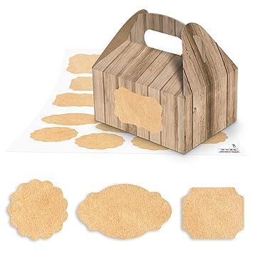 17 pequeñas cajas de regalo del paquete en aspecto de madera de marrón (9 x
