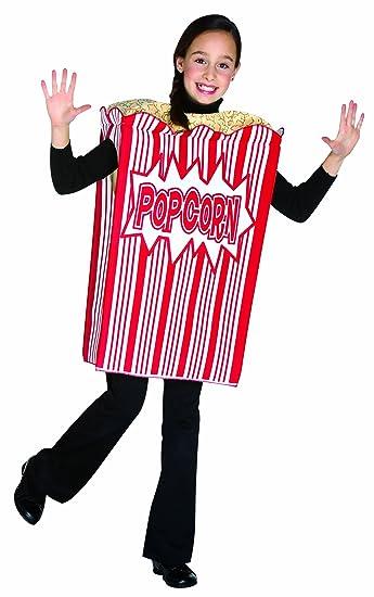 Rasta Imposta Movie Night Popcorn Childrens Costume, 7-10, Red