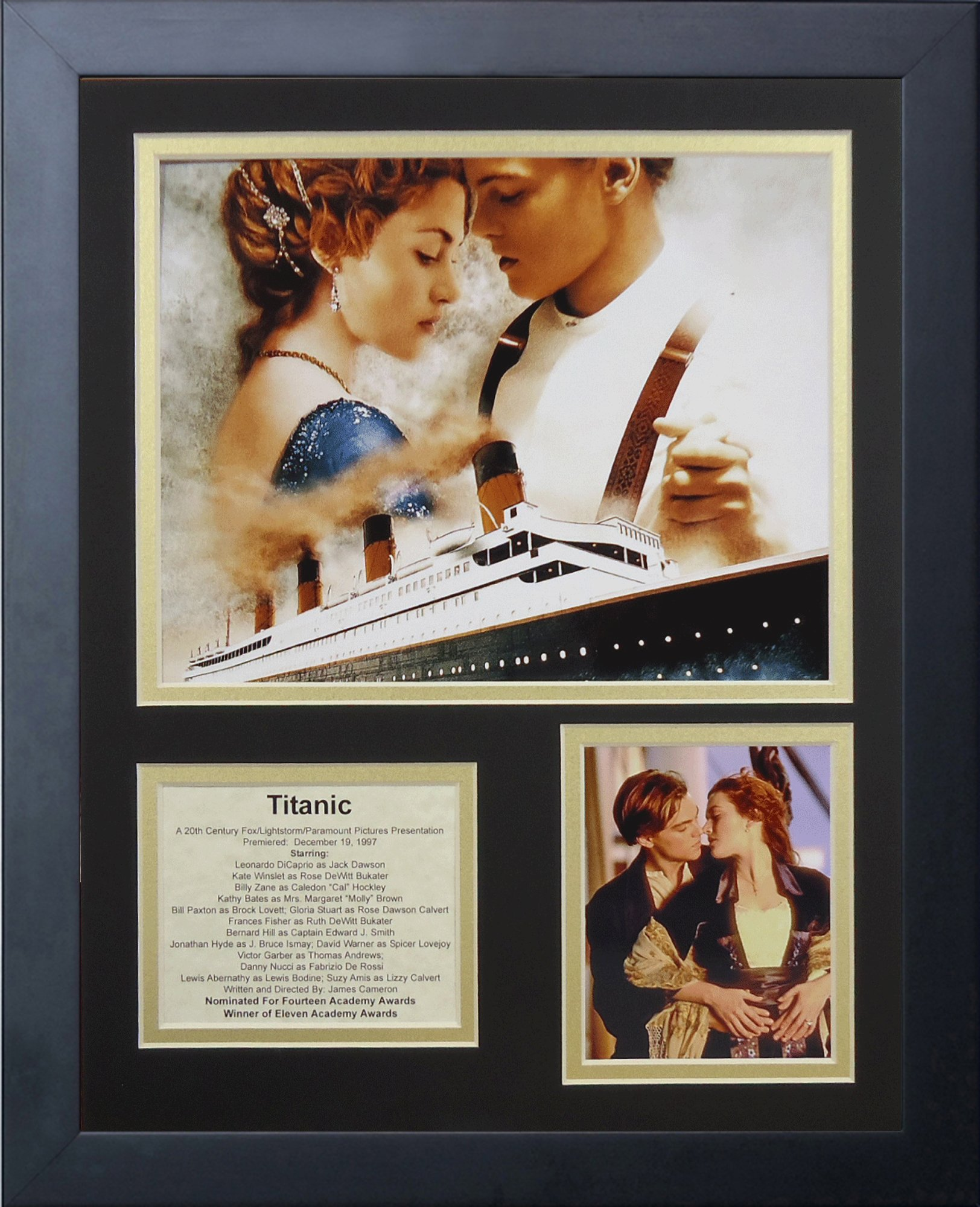 Legends Never Die Titanic Framed Photo Collage, 11 by 14-Inch