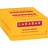Larabar, Fruit & Nut Bar, Banana Bread, Gluten Free, Vegan (16 Bars)