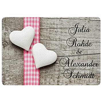Amazonde Personalisierte Fußmatte Romantik Fußmatten Mit