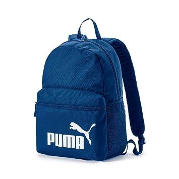 Puma Phase Mochila Poliéster Azul, Blanco - Mochila para portátiles y netbooks (Poliéster,