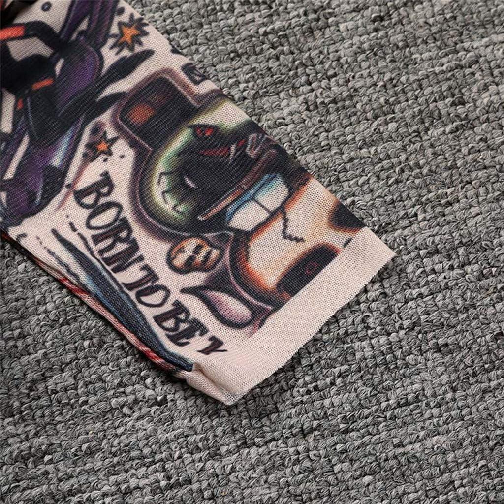 HULKY B/éb/é Gar/çon Fille Tatouage Imprim/é /À Manches Longues Patchwork Coton Barboteuses Combinaison Toddler Stitch Costume Coton T-Shirt Maille Tatouage Manches Longues Tops /À 0-6 Ans