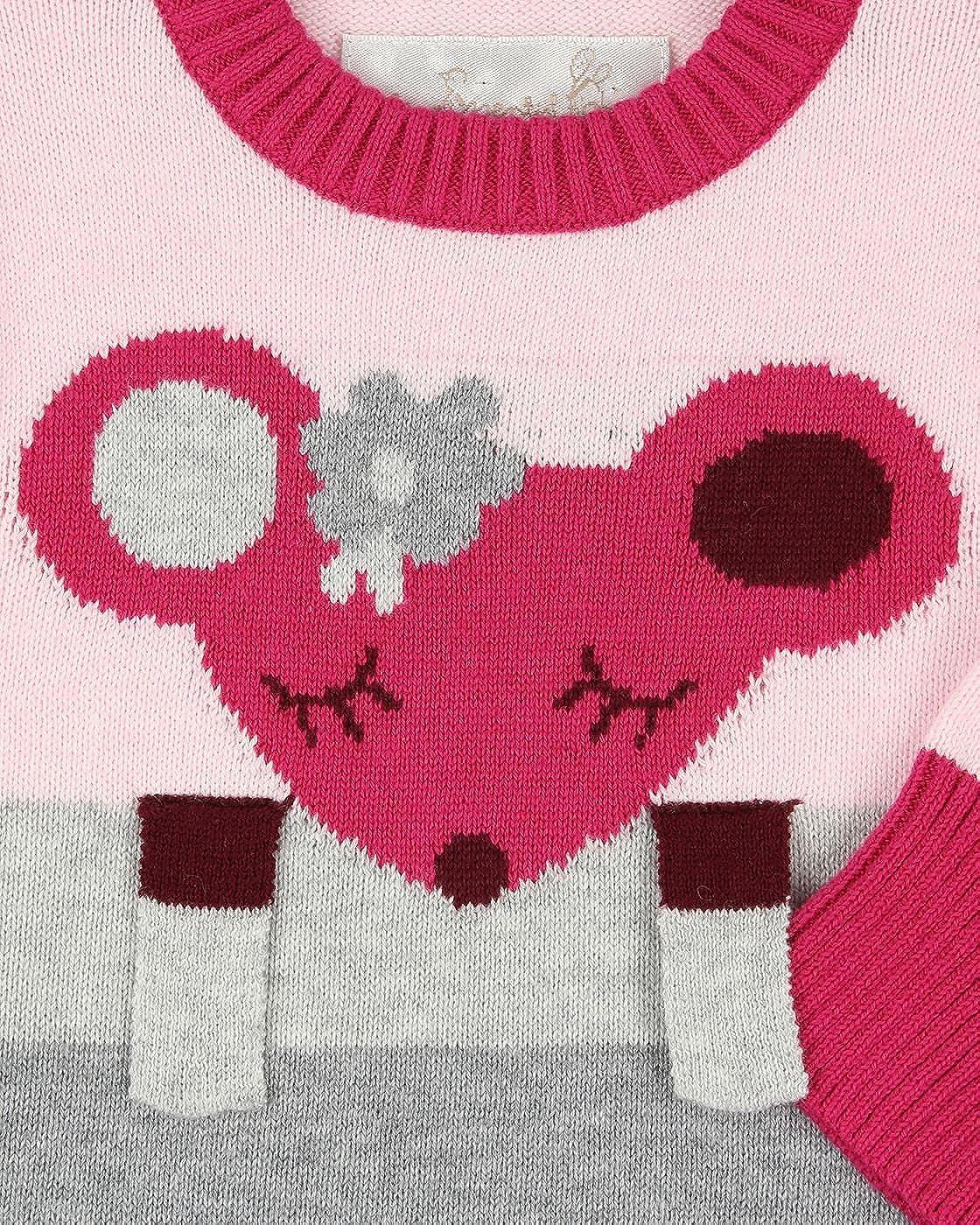 The Essential One - Bebé Niñas Pijamas Tipo Pelele Ratón De Punto - Rosado - Primera Puesta 50cm - EO287: Amazon.es: Ropa y accesorios