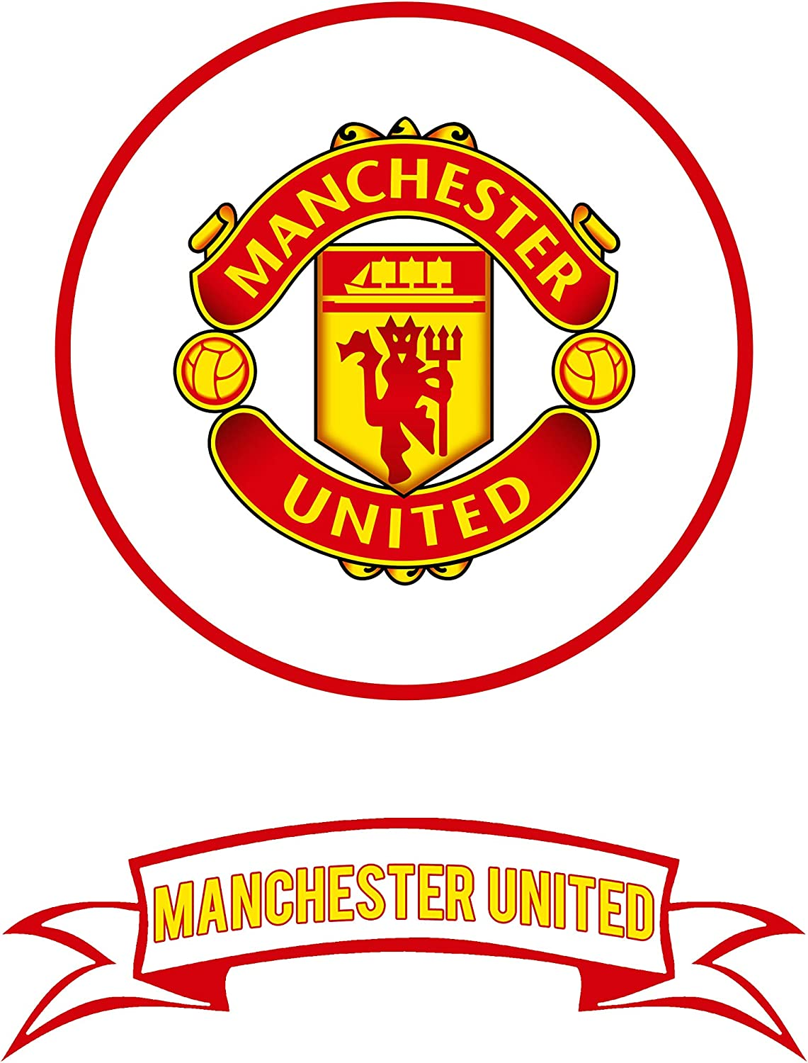 manchester united cake topper and team banner edible icing cake decorations amazon co uk kitchen home manchester united cake topper and team banner edible icing cake decorations