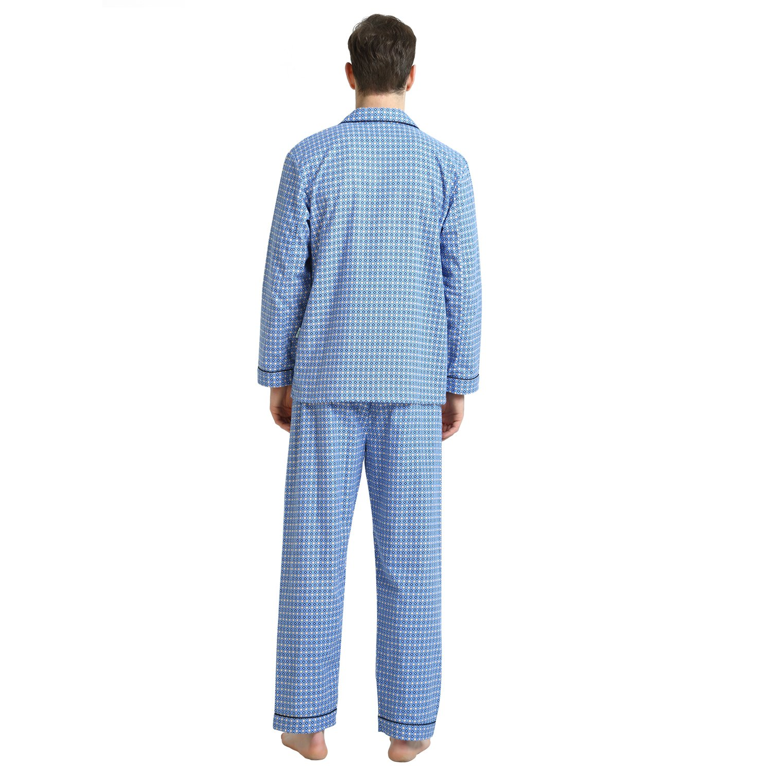 Cotton Sleepwear/Loungewear Sets for Men,100% Fleece Warm Pj Top and Bottom by GLOBAL (Image #3)