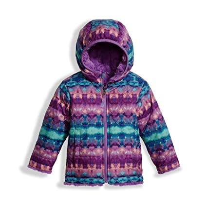 dfac52d4f The North Face Kids Baby Girl's Reversible Mossbud Swirl Jacket (Toddler)  Algiers Blue Fair