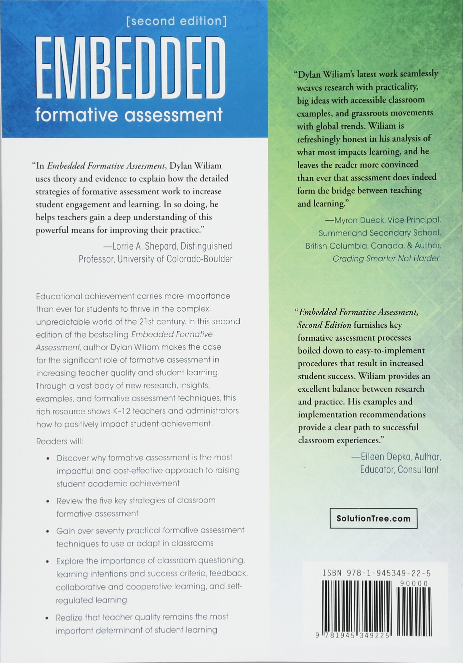 Embedded Formative Assessment: Strategies For Classroom Assessment That  Drives Student Engagement And Learning: Amazon.co.uk: Dylan Wiliam: Books
