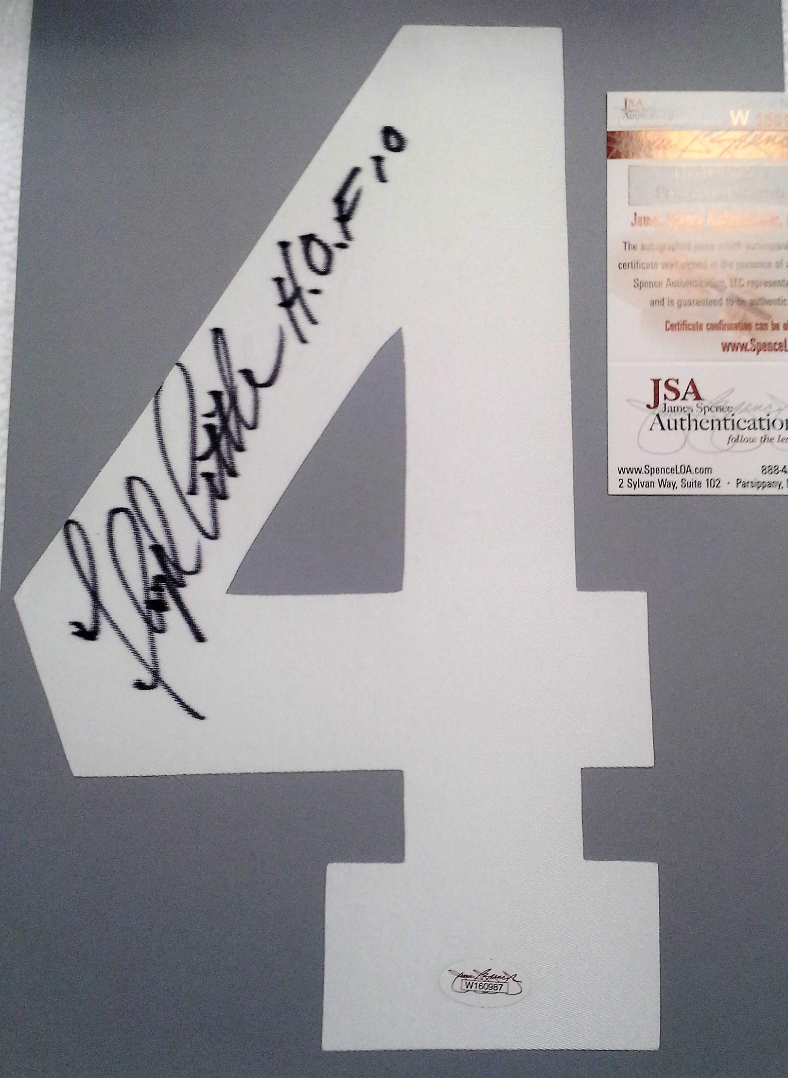 Floyd Little Hall of Fame Denver Broncos Running Back Signed Number for Jerseys with JSA COA