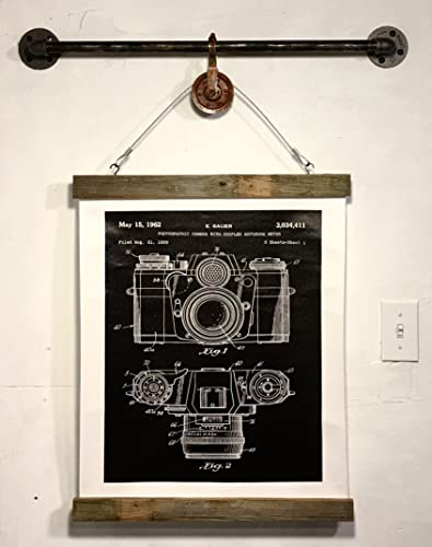 Amazon industrial wood signs rustic wall decor camera blueprint industrial wood signs rustic wall decor camera blueprint art print wall hanging black white canvas malvernweather Gallery
