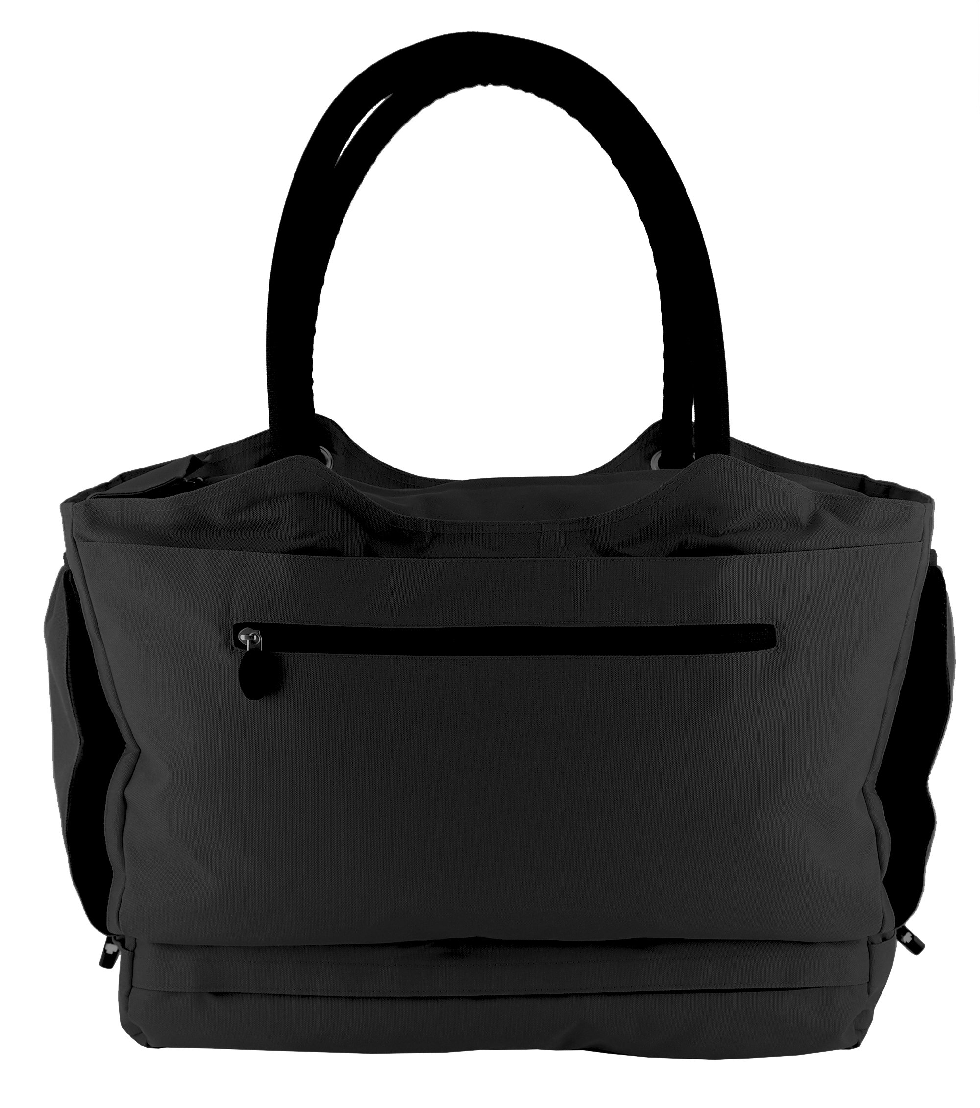CoolBag Gen 2 Locking Anti-Theft Travel Tote With Insulated Cooler Compartment (Bermuda Black)