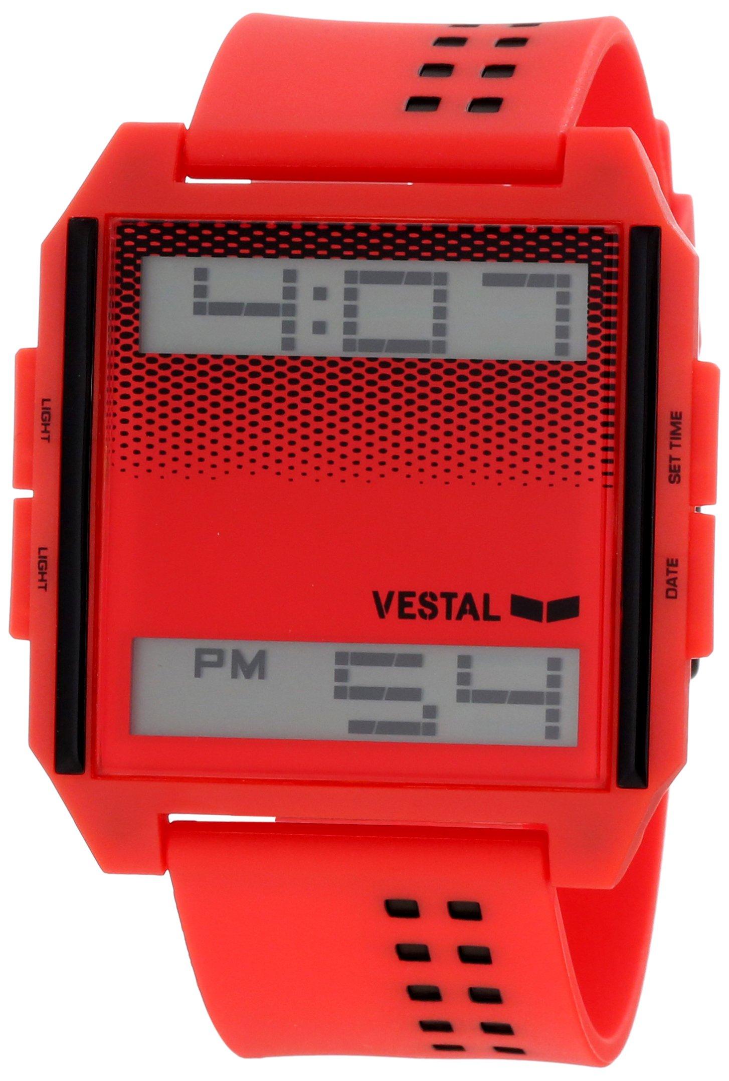 Vestal Unisex DIG023 Digichord Ultra Thin Red Digital Watch