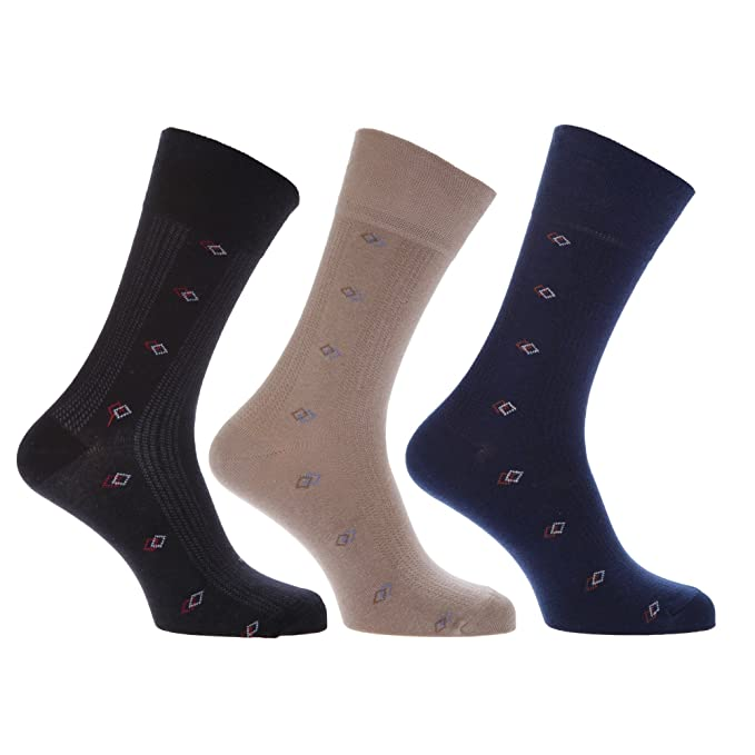 Calcetines modernos con alto porcentaje en algodón y suave goma elástica hombre/caballero - Pack