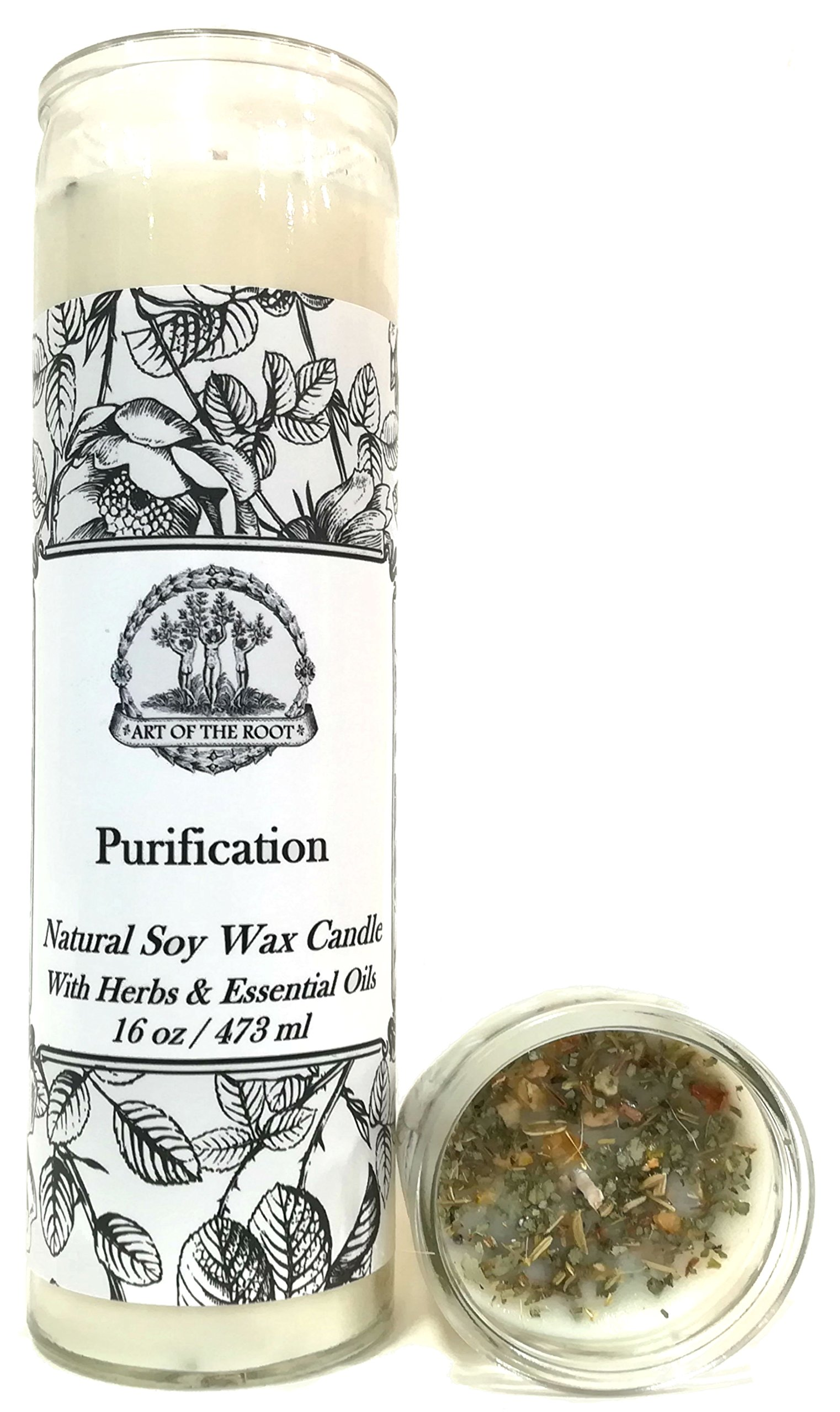 Purification 7 Day SOY Herbal & Scented Spell Candle for Negativity & Cleansing Wiccan Pagan Conjure Hoodoo by Art of the Root