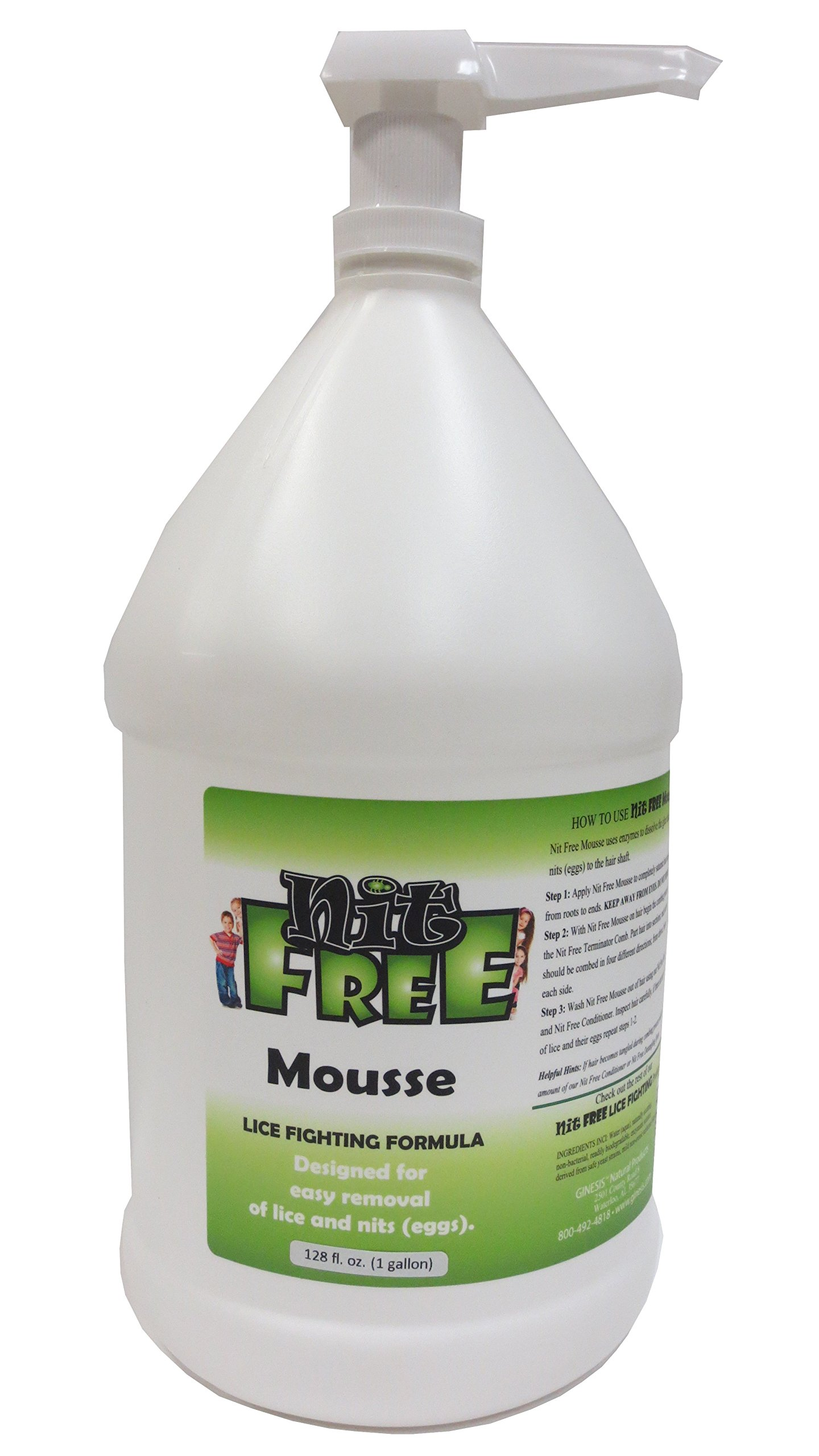 Nit Free Lice and Nit(egg) Eliminating Enzyme Nit Glue Dissolver. Pre comb out Enzyme Treatment for Removing Head lice, and their Eggs. Nit Free 2 in 1 Makes Combing Efficent. 1 Treatment and Done.128 FL OZ by Nit Free
