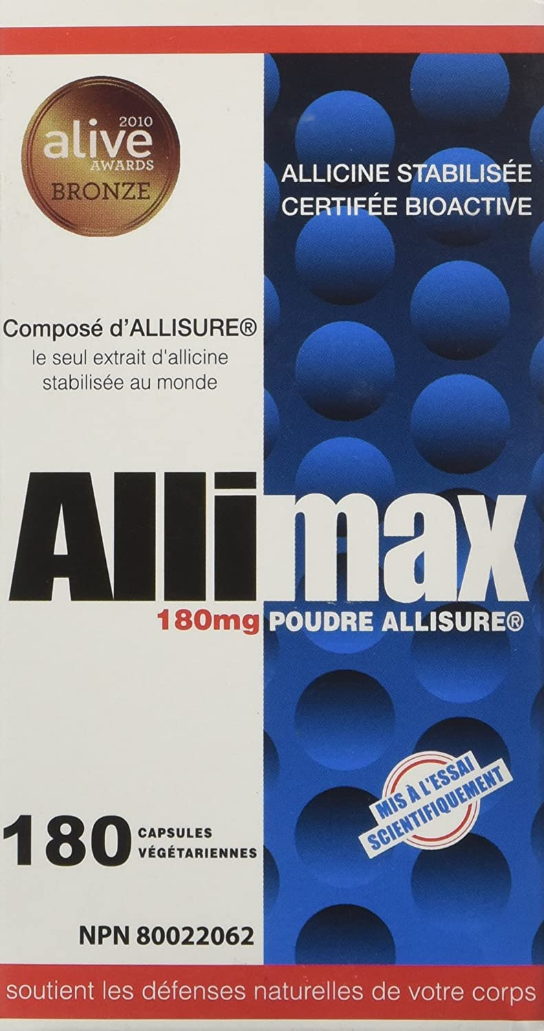 Amazon.com : Allimax International Limited, Allimax 180 mg 30 vegcaps : Nutrition And Wellness Products : Beauty