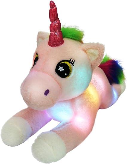 Rainbow Unicorn Stuffed Animal Plush Toy Gift for Girls Kids Birthday Christmas