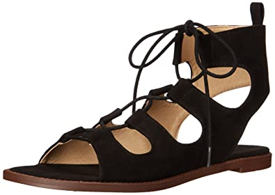 Chinese Laundry Womens Guess Who Sandal Black Suede