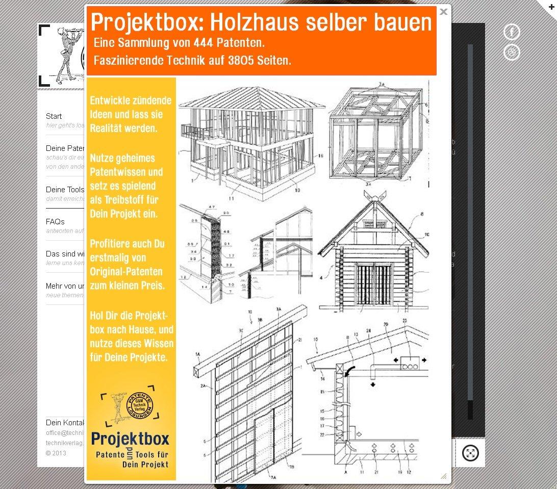 Holzhaus selber bauen: Deine Projektbox inkl. 444 Original-Patenten ...
