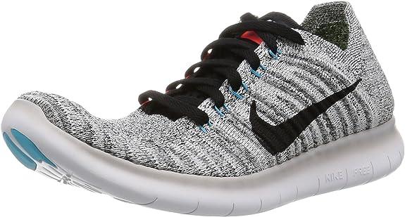 Nike Wmns Free RN Flyknit, Zapatillas de Running para Mujer, Gris (Wolf Grey/Blk-Ttl Crmsn-GMM Bl), 38.5 EU: Amazon.es: Zapatos y complementos