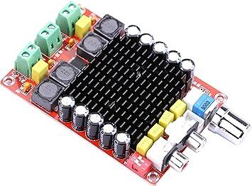 Tablero del Amplificador Estéreo,Yeeco TPA7498 2x100w Tablero del Amplificador de Potencia,DC 14