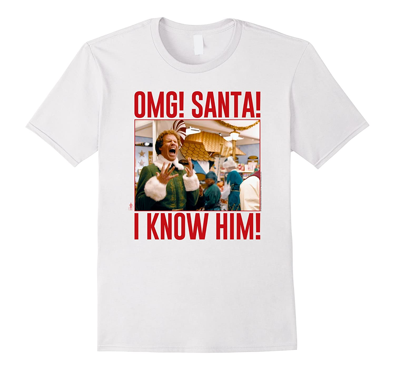 Elf Omg Santa I know him Screaming Photo-TD