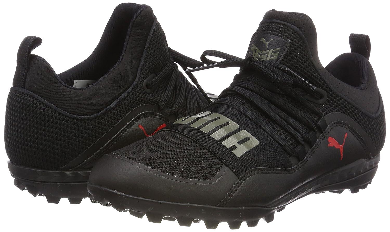 Puma 365.18 Ignite St, Chaussures de Football Homme, Noir Black-Flame Scarlet-Castor Gray, 42 EU