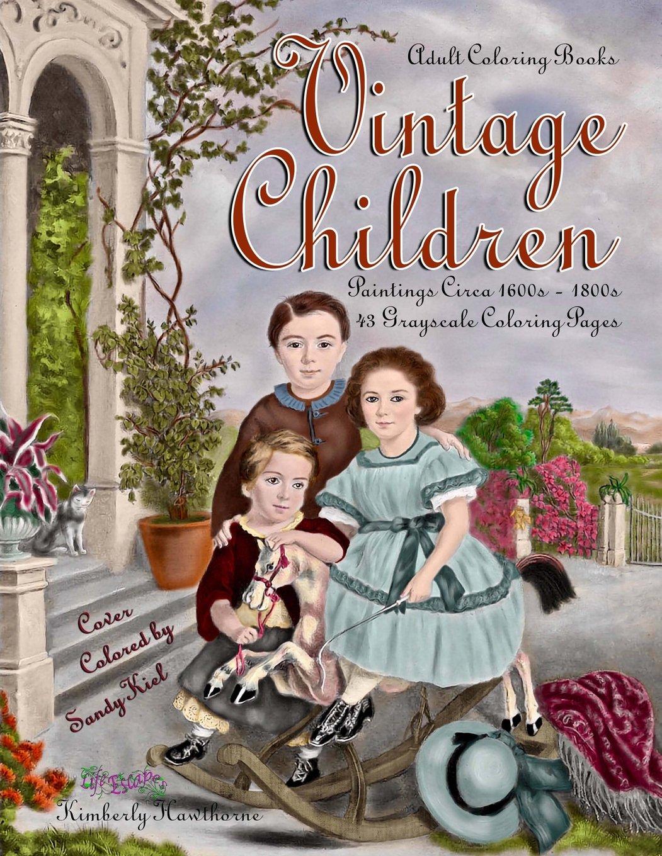 Amazon Com Adult Coloring Books Vintage Children 43 Grayscale