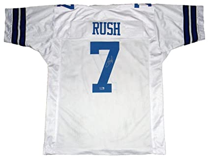 d90ba7a6c Image Unavailable. Image not available for. Color: Cooper Rush Autographed  Jersey - #7 White Coa - Autographed NFL Jerseys