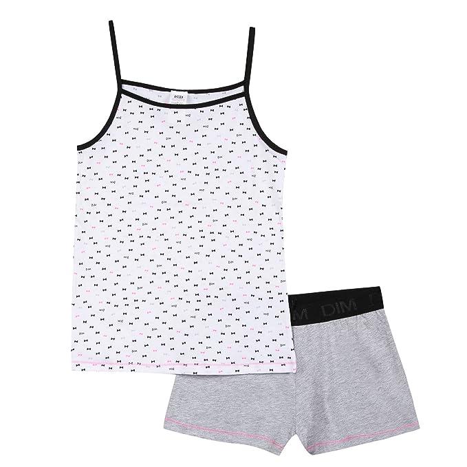 Dim Pyjama Court, Conjuntos de Pijama para Niñas, Marfil (Gris Chine 20), 16 Años: Amazon.es: Ropa y accesorios