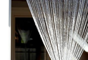 1001 Wohntraum F11 Rideau de fils Blanc brillant 100 x 200 cm ...