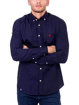 POLO CLUB Camisa Hombre Gentle Pure Plain Azul Marino L: Amazon.es ...