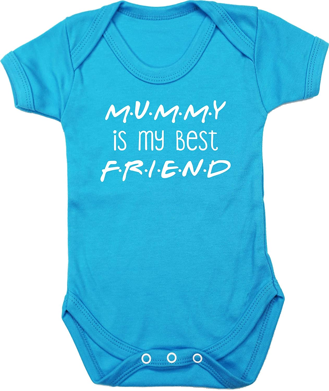 Hippowarehouse Mummy is My Best Friend Baby Vest Bodysuit Boys Girls Short Sleeve