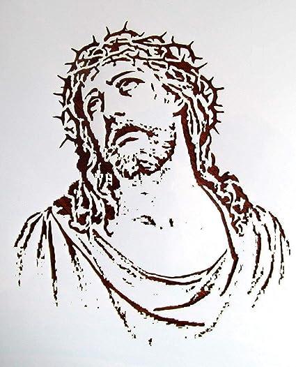 Amazon com: Stencil Reusable Religious Jesus Christ 10 mil