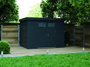 NOVO HABITAT Caseta de Jardin metálica NH8 | Antracita | 298 x 268: Amazon.es: Jardín