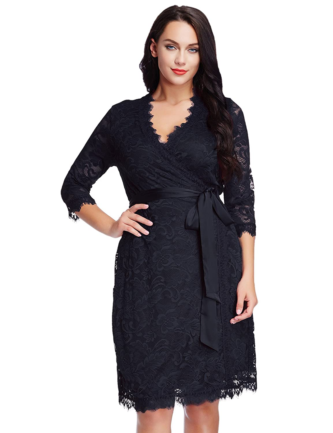 Amazon Lookbookstore Womens Plus Size Lace 34 Sleeves Formal