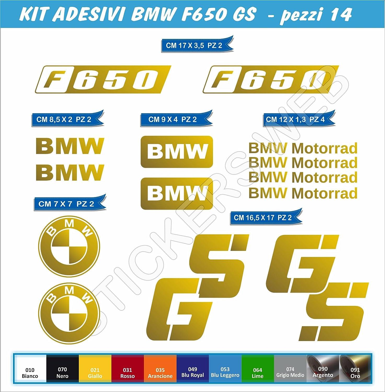 Juego de 14 pegatinas BMW F650GS F650 GS para moto – Color a elegir, código: 0061, Oro cod. 091: Amazon.es: Deportes y aire libre