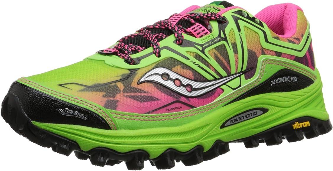 Saucony Xodus 6.0 - Zapatillas de running para mujer, color verde / rosa, Verde (Green / Pink), 37M(EU): Amazon.es: Ropa y accesorios