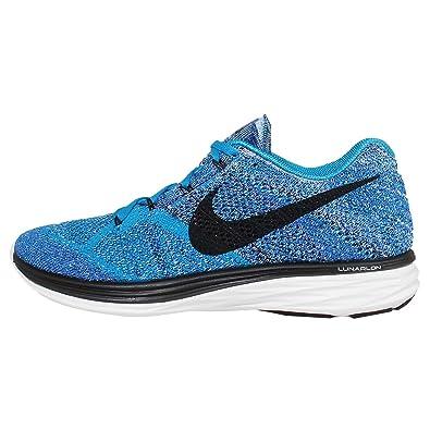 NIKE Flyknit Lunar3 Mens Running Shoes Blue Lagoon Black 698181 402 (7)
