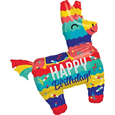 "Anagram 33"" Pinata Birthday Party Super Shape Foil Balloon: Toys & Games"