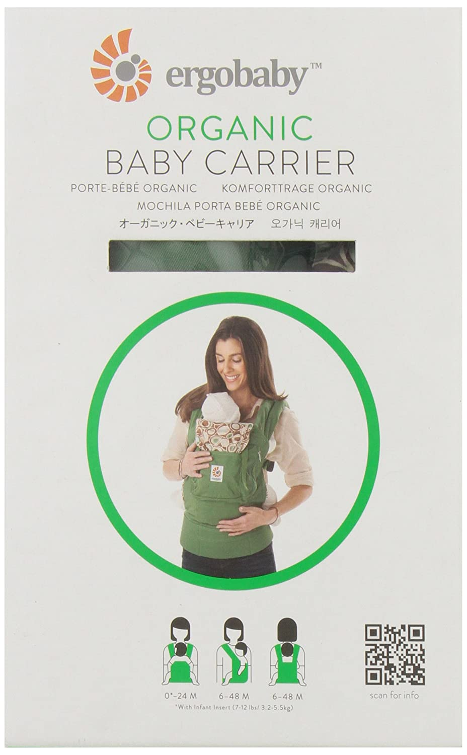 Amazon.com : Organic Cotton Baby Carrier Color River Rock : Child Carrier Front Packs : Baby
