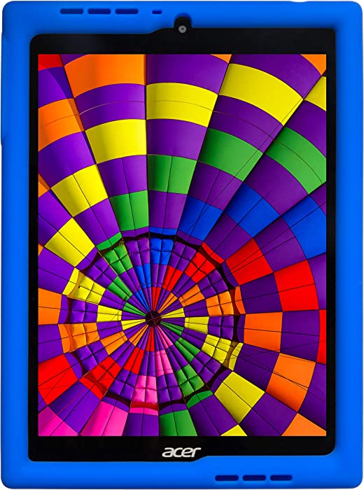 BobjGear Bobj Rugged Tablet Case for Acer Chromebook Tab 10 (D651N) Kid Friendly (Batfish Blue)