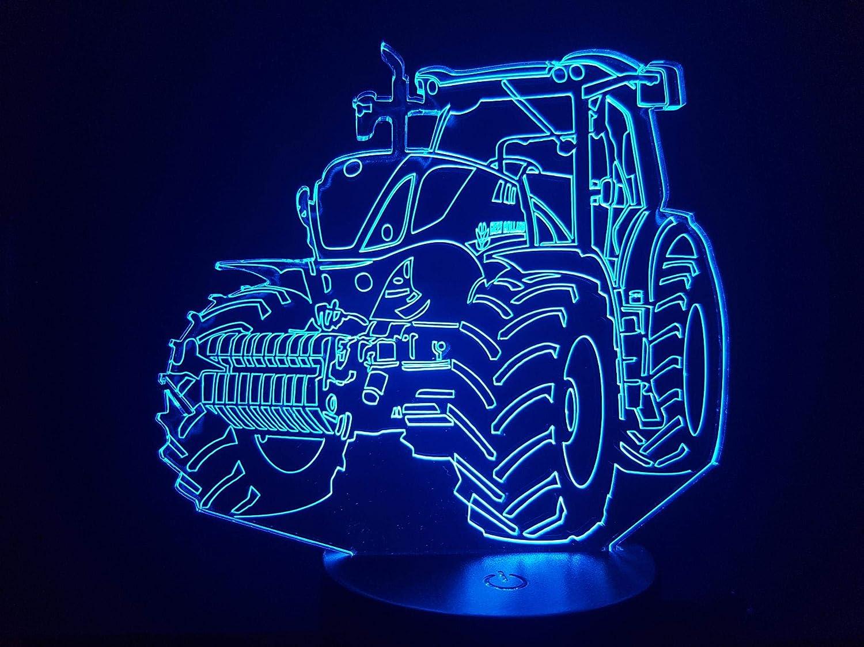 Tracteur NEW HOLLAND, lampe 3D à LED