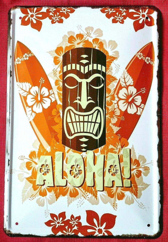 Tin Sign Cartel de Chapa 20 x 30 cm Aloha Bienvenido a ...