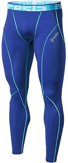 TM-P16-BLSZ_X-Large Tesla Men's Compression Pants Baselayer Cool Dry Sports Tights Leggings P16