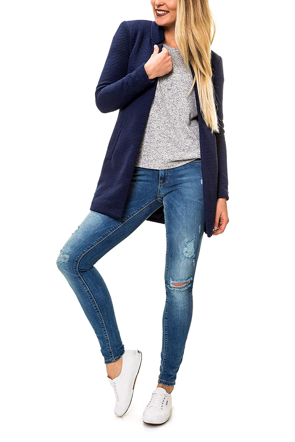 ONLY Damen /Übergangsmantel Kurzmantel Long Blazer